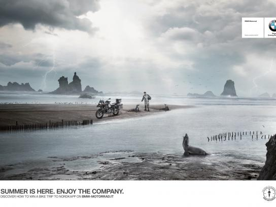 BMW Print Ad -  The Road to Nordkapp, Company