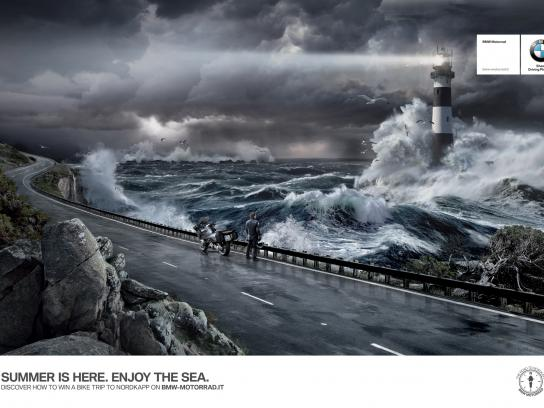BMW Print Ad -  The Road to Nordkapp, Sea