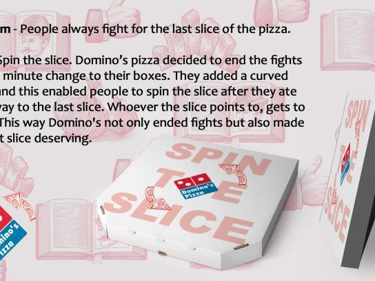 Domino's Pizza Design Ad - Spin the Slice
