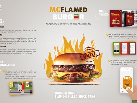 Burger King Integrated Ad - McFlamed