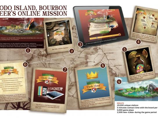 Bourbon Beer Digital Ad -  Dodo Island