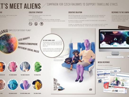 Czech Railways Print Ad -  Aliens