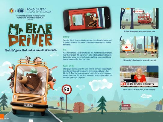 Automobile Club of Romania Digital Ad - Mr. Bear Driver