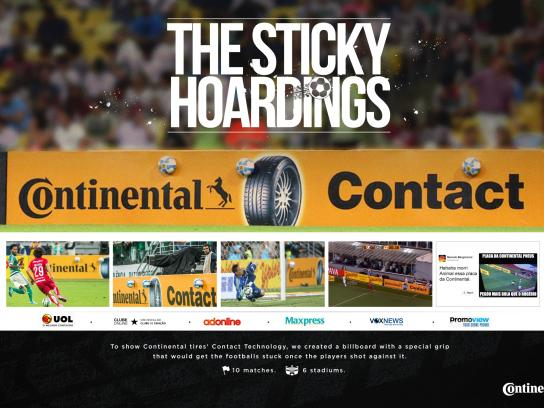 Continental Ambient Ad -  The Sticky Hoardings