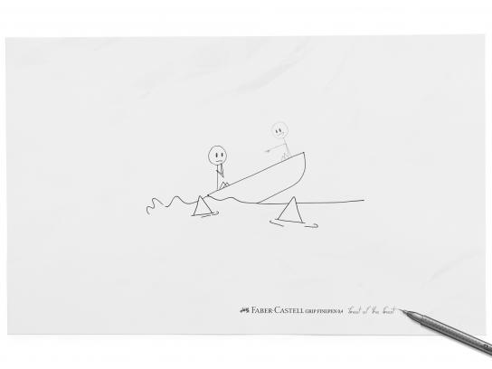 Faber-Castell Print Ad -  Boat