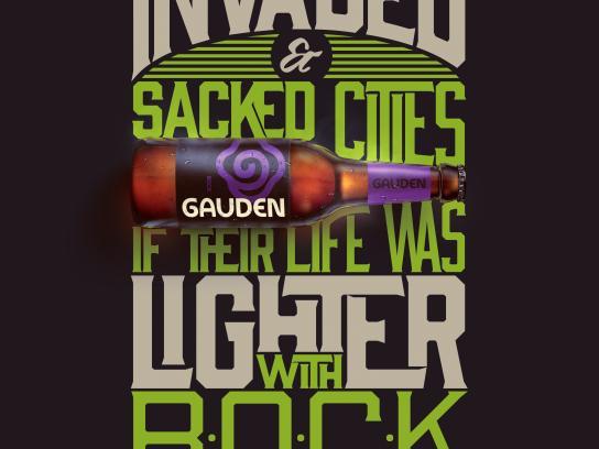 Gauden Bier Print Ad - Bock