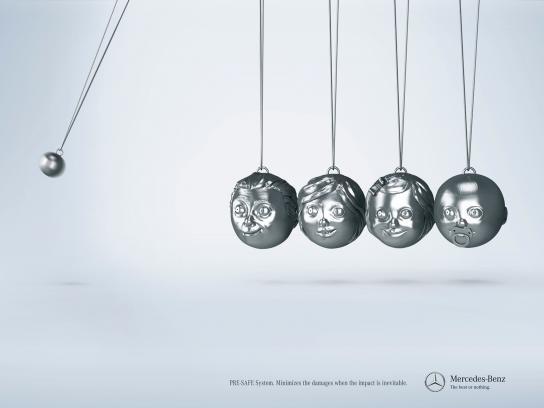 Mercedes Print Ad -  Balls