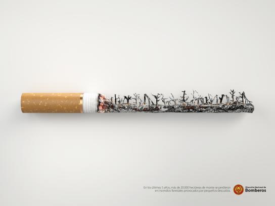 Dirección Nacional de Bomberos Print Ad - Cigarette