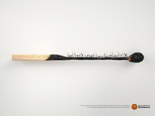 Dirección Nacional de Bomberos Print Ad - Matchstick