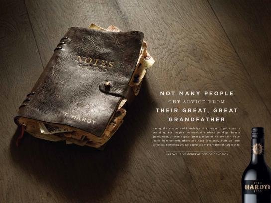 Hardys Wine Print Ad -  Book