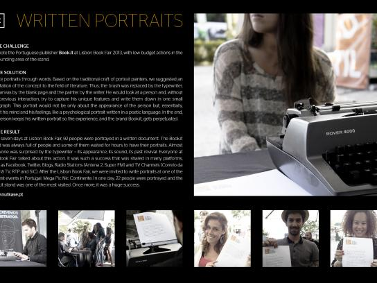Book.it Ambient Ad -  Written portraits