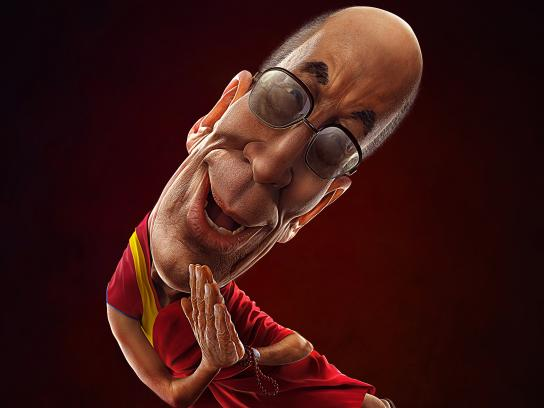 El Universo Newspaper Print Ad - Boomerang Dalai Lama