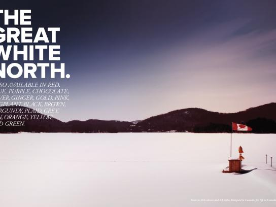 Cougar Boots Print Ad -  The Great White North