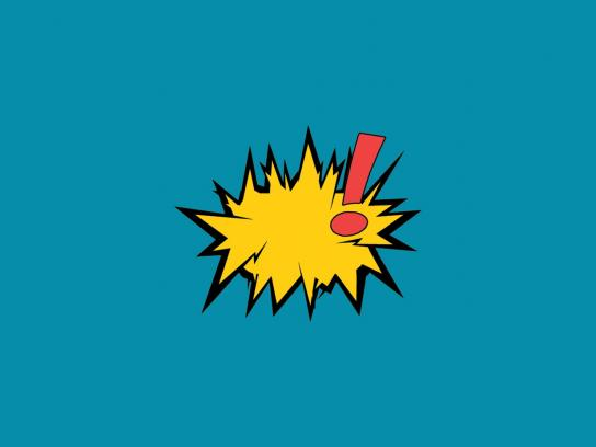 Bose Print Ad -  Cartoon Sound Effects, Blue