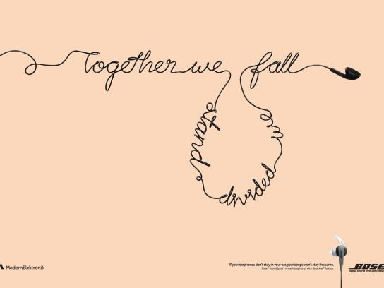 Bose Print Ad - Fallen songs, 1