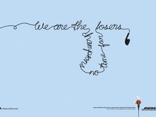 Bose Print Ad - Fallen songs, 2