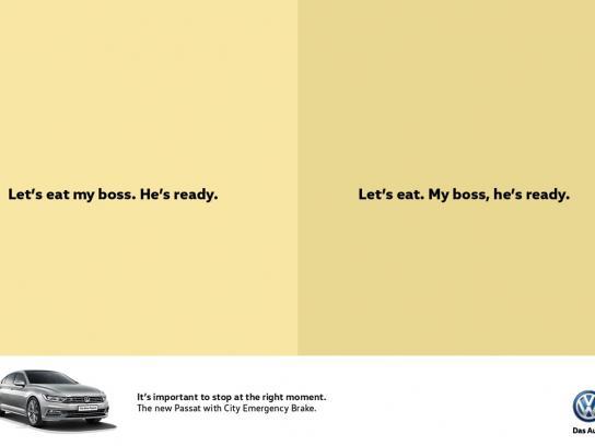 Volkswagen Print Ad -  Boss