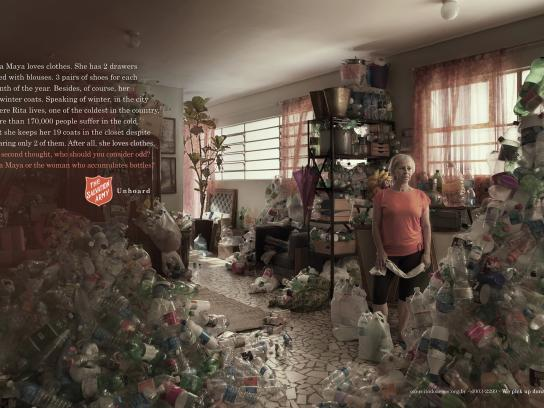 Salvation Army Print Ad -  Bottles
