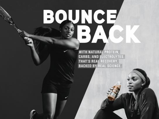 Built With Chocolate Milk Print Ad - Bounce Back