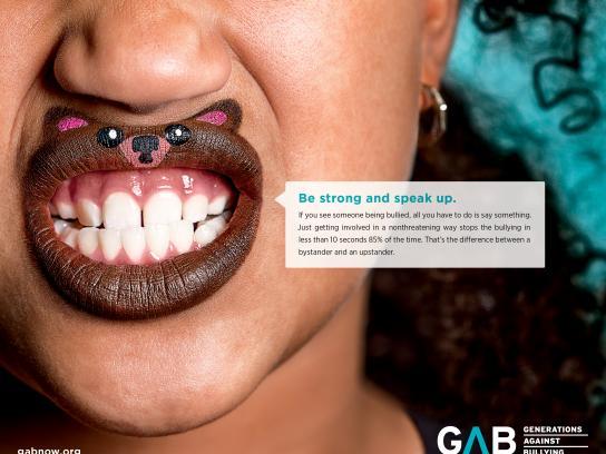 Generations Against Bullying Print Ad - Speak Up