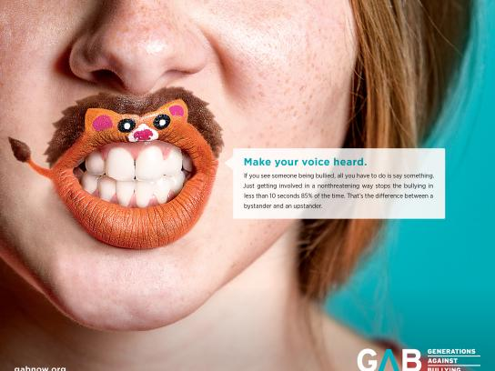 Generations Against Bullying Print Ad - Your Voice