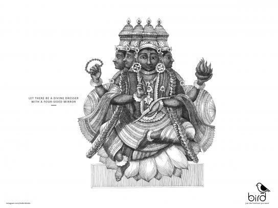 Dot Bird Print Ad - Brahma's Wish