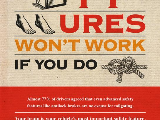 Traffic Injury Research Foundation Print Ad -  Brain on Board, 2