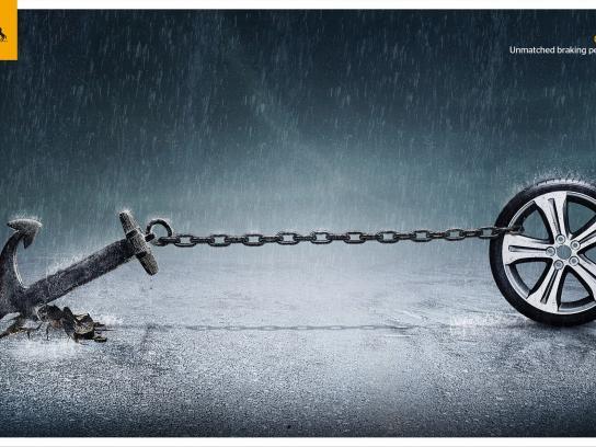 Continental Print Ad -  Brake - Rain