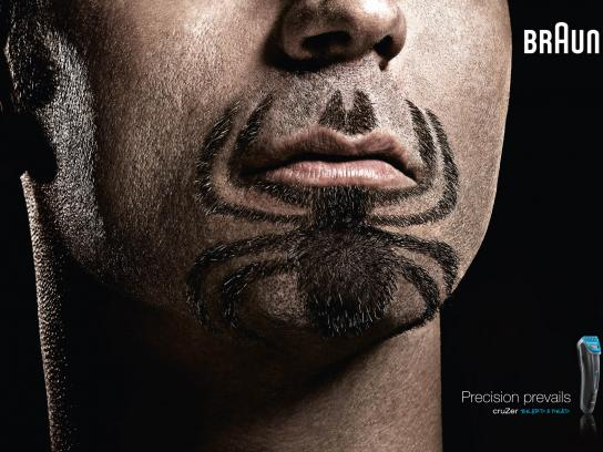 Braun Print Ad -  Super Beards Spiderman