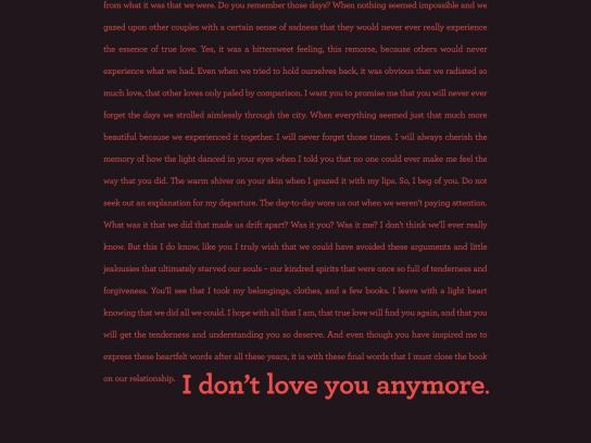 Daniel Gagnon Print Ad -  Speed Reading - Break up