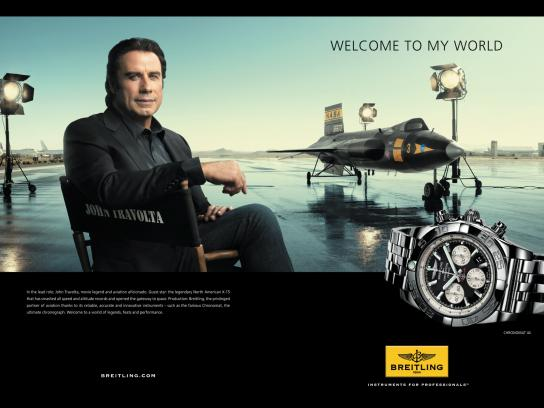Breitling Print Ad -  Welcome to my world