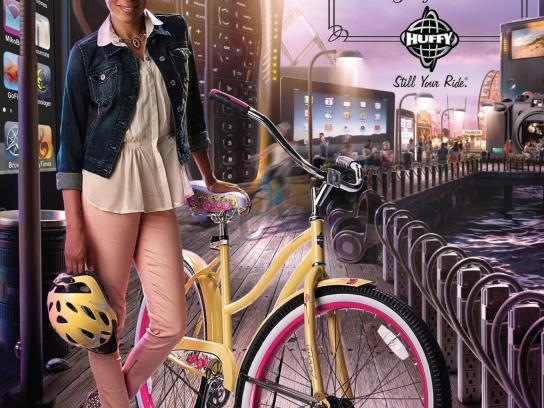 Huffy Print Ad -  Wind