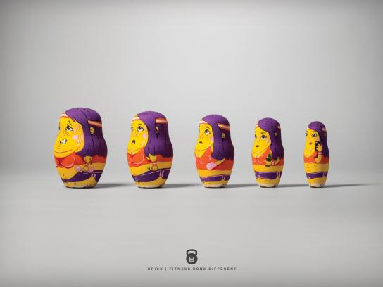 Brick Outdoor Ad -  Nesting doll, 2
