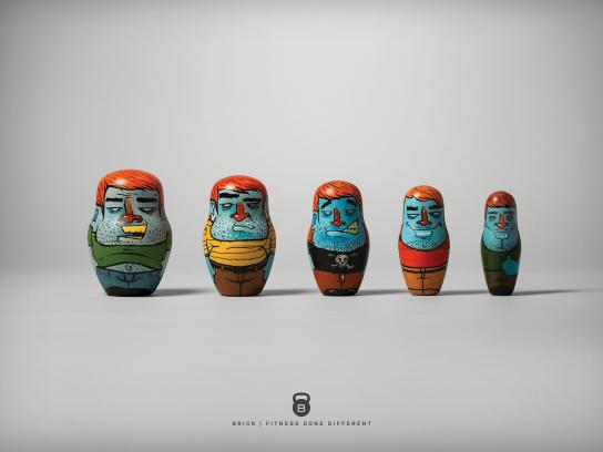 Brick Outdoor Ad -  Nesting doll, 4