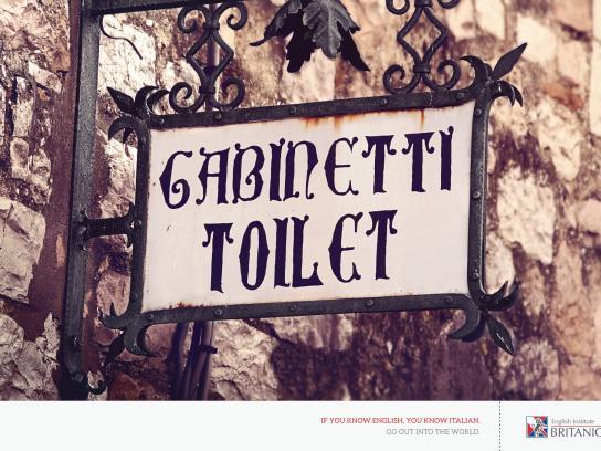 Británico Print Ad -  Italian