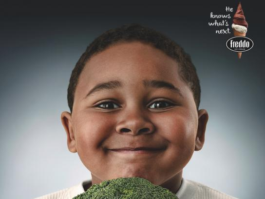 Freddo Print Ad - Kids and Vegetables, 2