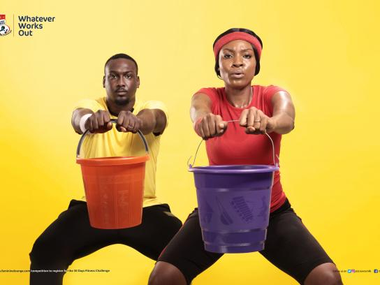 Three Crowns Milk Print Ad - Three Crowns Fitness Challenge Reloaded - Bucket