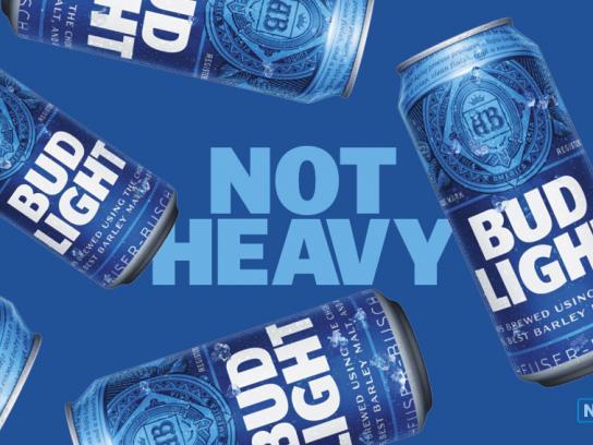 Bud Light Outdoor Ad - Not heavy