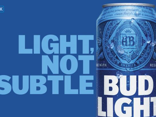Bud Light Outdoor Ad - Not subtle