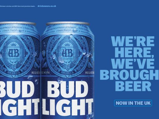 Bud Light Outdoor Ad - We're here