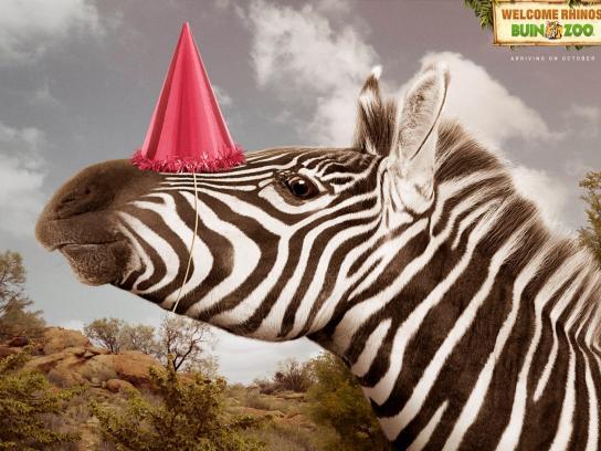 Buin Zoo Print Ad -  Zebra