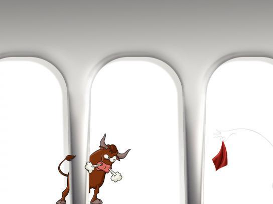 Oral-B Print Ad - Crazy Bull
