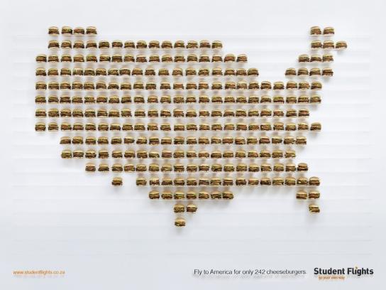 Student Flights Print Ad -  Burgeronomics