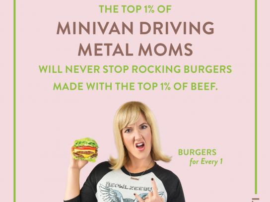 BurgerFi Print Ad - Metal Mom