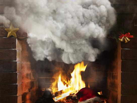 Burger King Print Ad - Fireplace