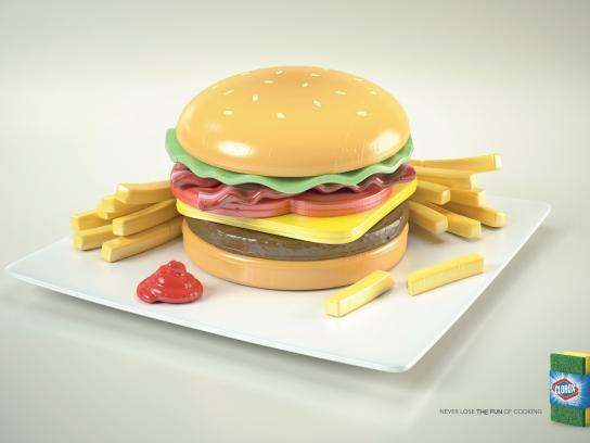 Clorox Print Ad -  Burger