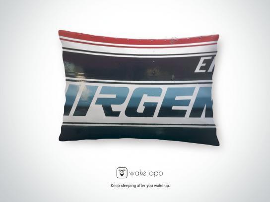 WakeApp Print Ad - Bus Pillow, 2