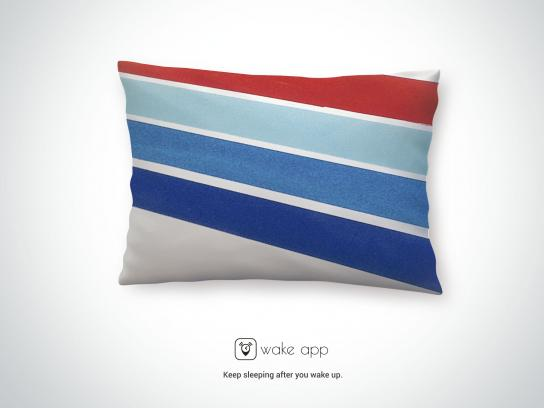 WakeApp Print Ad - Bus Pillow, 3