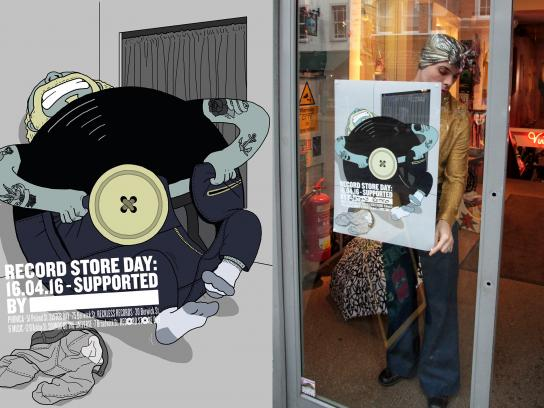 Record Store Day Outdoor Ad -  Button
