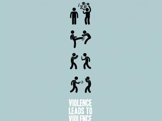 Convivencia Sin Violencia Print Ad -  Violence leads to violence, 1